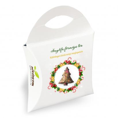 Fenyőfa formájú karácsonyi tea