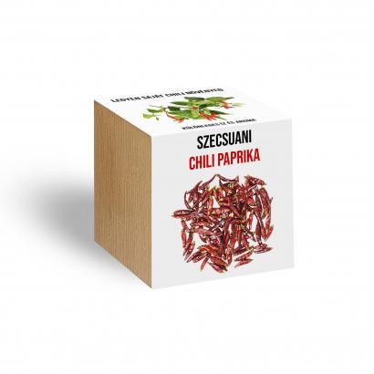 Szechuani chili paprika növényem fa kaspóban