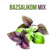 Bazsalikom mix növényem fa kaspóban