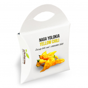 Naga Jolokia Yellow Chili paprika magok díszdobozban